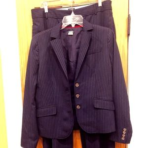J Crew Navy Striped Suit Size 8/10